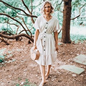 Ces Femme Dresses - Like New Adorable Jessakae Ces Femme Ruffle Dress